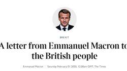 La lettre de Macron aux Britanniques: