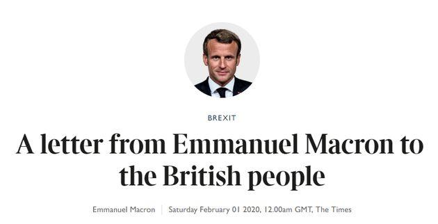 Emmanuel Macron écrit une lettre aux Britanniques dans The