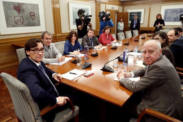 El ministro de Sanidad,SalvadorIlla, preside este sábado una nueva reunión...