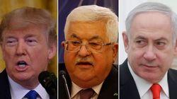 """Premier effet du plan Trump: Abbas rompt """"toutes les relations"""" avec Israël et les"""