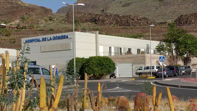 Exterior of the hospital on the remote Spanish island of La Gomera, where the first case of coronavirus...