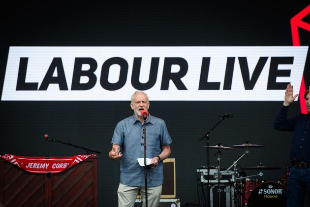 Jeremy Corbyn at the Labour Live festival in