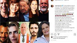 Após Carolina Ferraz, outros artistas desautorizam Regina Duarte e ela apaga post no