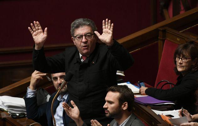 Mélenchon (ici le 19 novembre à l'Assemblée) qualifie le préfet Lallement...