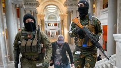 Masked Gun Rights Activists Carrying Semi-Automatic Weapons Rally Inside US Government