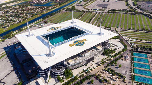 2020年のスーパーボウルの舞台になるフロリダ州マイアミのハードロック・スタジアム