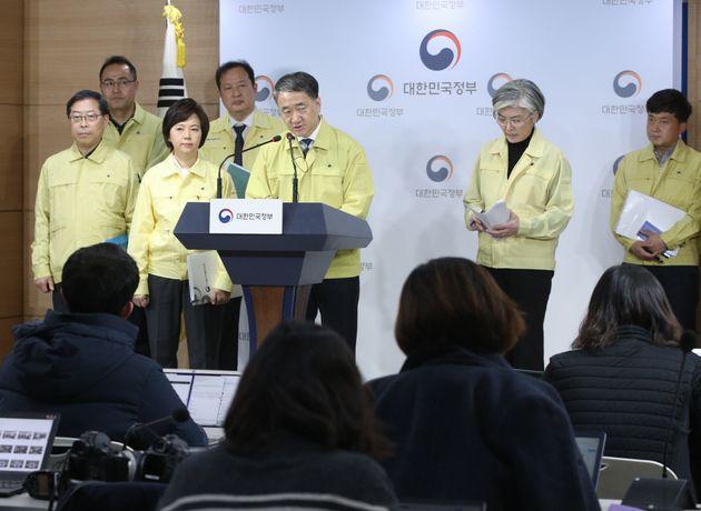 2일 오후 서울 종로구 정부서울청사에서 신종 코로나 바이러스 감염증 관련