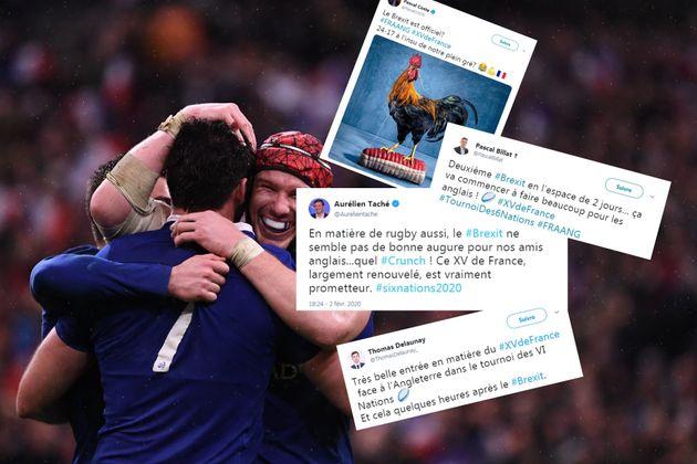 France-Angleterre: les fans des Bleus fêtent la victoire en moquant le Brexit