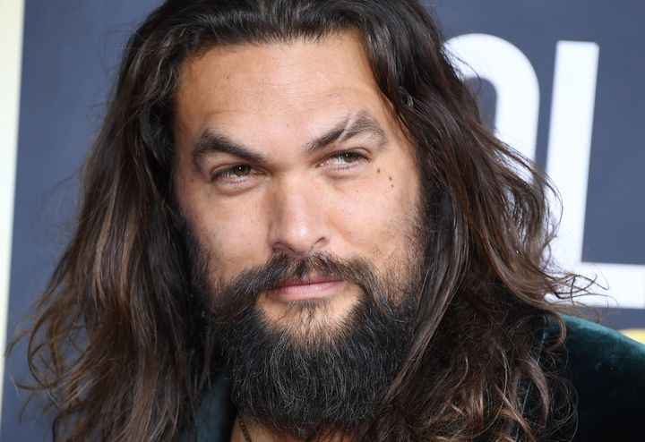 Jason Momoa looking his usual self as he attends the 77th Annual Golden Globe Awards.