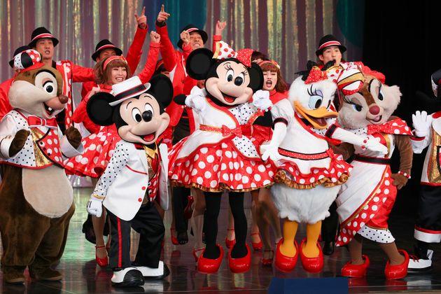 東京ディズニーランドのミニーマウスが主役のショー1月9日、千葉県浦安市