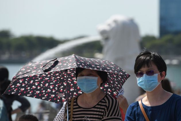 マスクをした訪問者 シンガポール 2020年1月26日