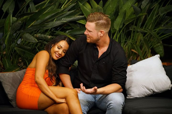 Davina Rankin and Dean Wells on Married At First Sight in 2018
