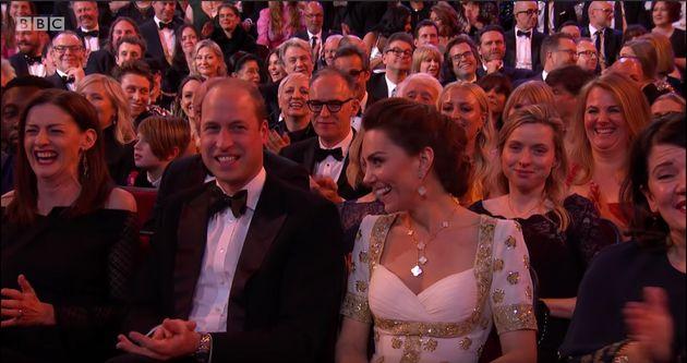 El príncipe Guillermo y Kate MIddleton, en los Bafta