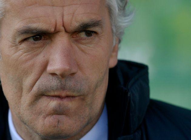Parma coach Roberto Donadoni waits for the start of a serie A soccer match between Parma and Atalanta...