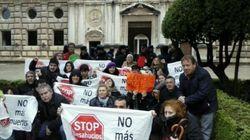 Protestas en la Alhambra ante la visita de