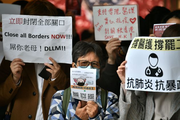 Sciopero dei medici ad Hong Kong: