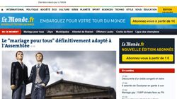 Portadas en Francia sobre el matrimonio homosexual: