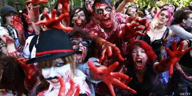 Marcha zombi de Sídney en febrero de