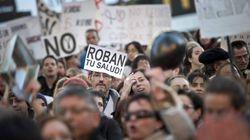 Las protestas por la sanidad paralizan la Asamblea de