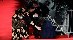 Al Pacino Takes A Tumble On The Red