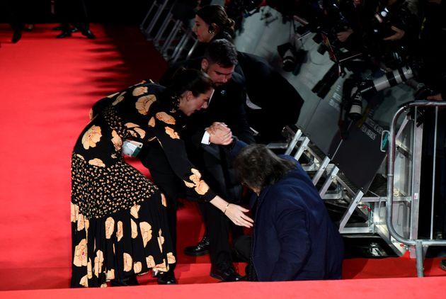 Baftas 2020: Al Pacino Suffers Fall On Red Carpet