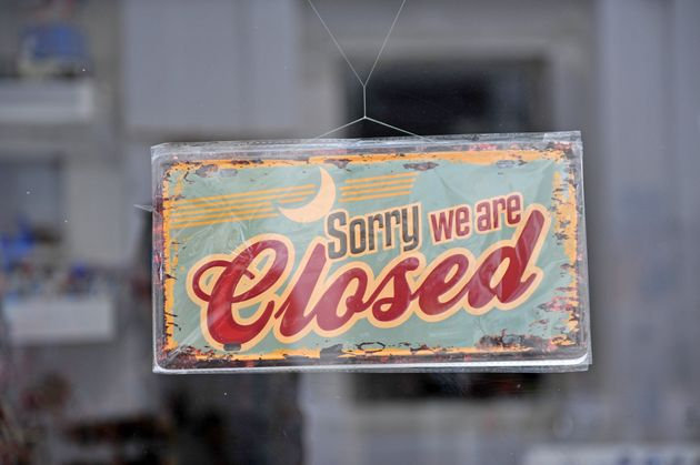 Closed sign in the street