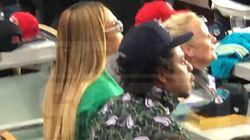 Beyonce, Jay-Z Sit During National Anthem At Super