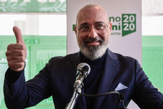 Incumbent centre-left candidate of the Democratic Party (PD) in a regional vote in Emilia-Romagna, Stefano...