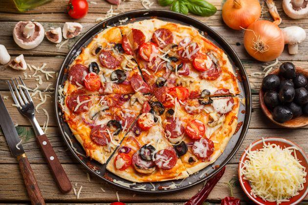Una pizza normal y