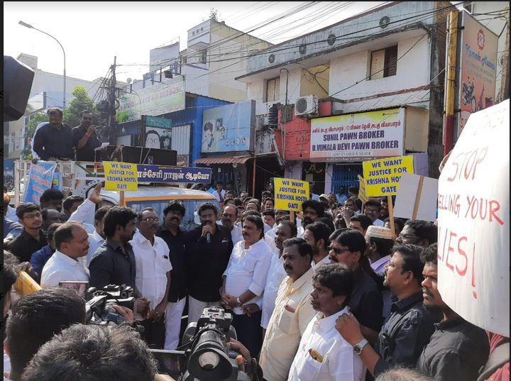 Members of political outfits join protests of Adi Dravidar community and IIT-M students.