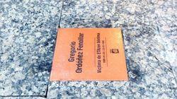 La placa en memoria de Gregorio Ordóñez, saboteada una semana después de su