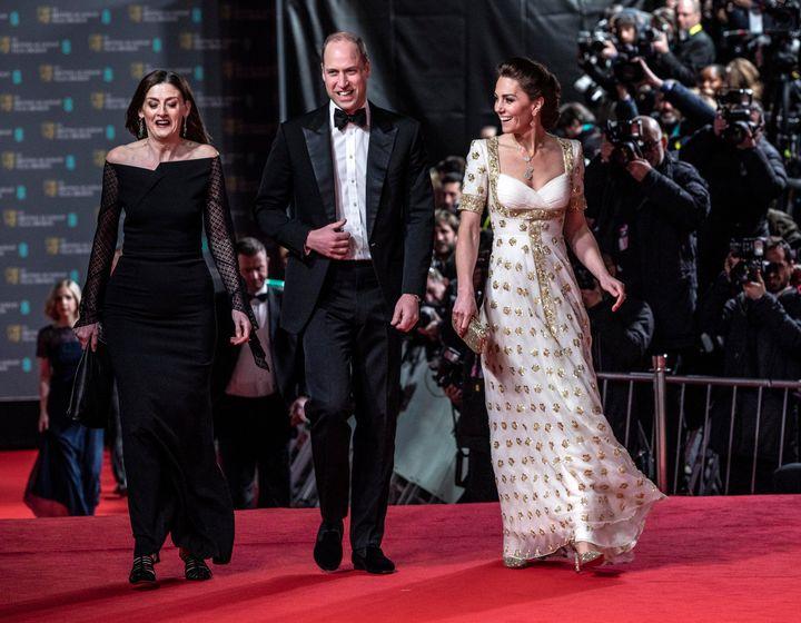 The duke and duchess making their grand entrance.
