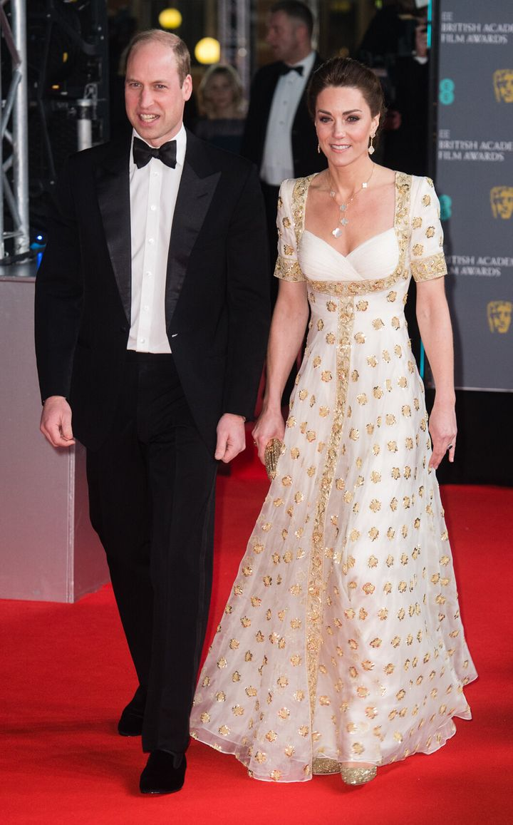 The Duke and Duchess of Cambridge attend the British Academy Film Awards at Royal Albert Hall in London.