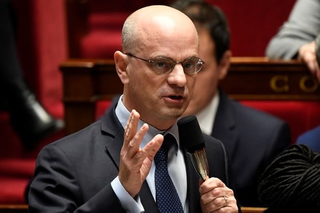 Le ministre de l'Éducation nationale Jean-Michel Blanquer à l'Assemblée nationale...