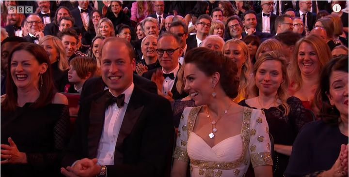 The Duke and Duchess of Cambridge at the BAFTAs.