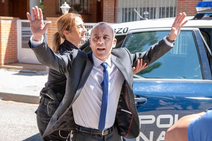 Javier Gutiérrez, en una escena de 'Vergüenza' (Movistar+).