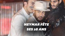 Neymar fête ses 28 ans entouré des stars du PSG... sauf