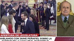 Peñafiel critica el gesto de Álvarez de Toledo a Felipe VI: