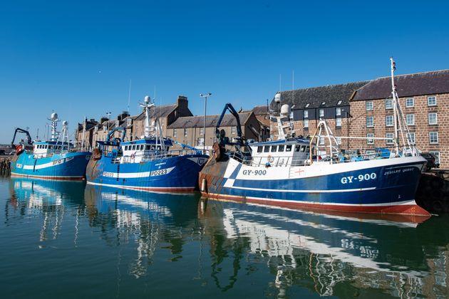 Fishing trawlers at Peterhead in