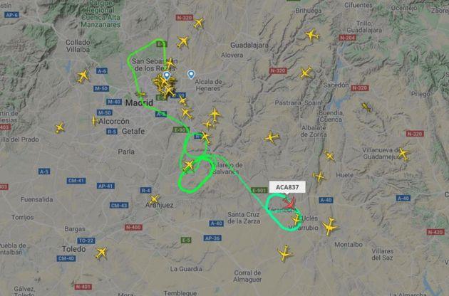 L'avion d'Air Canada en difficulté a fini par se poser à Madrid après de nombreux...