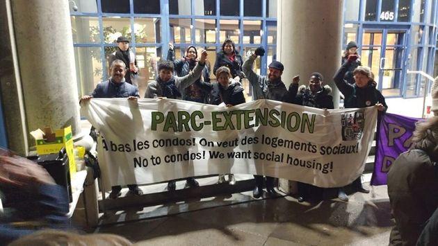 Le Comité d'action de Parc-Extension milite pour davantage de logements sociaux et des mesures de mitigation...