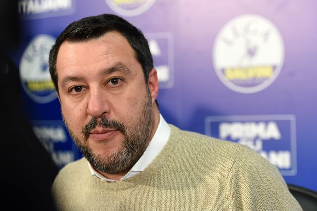 MILAN, ITALY - JANUARY 31: Matteo Salvini, leader of the party Lega Nord, attends a press conference...