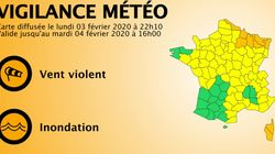 Tempête Hervé: la Corse et 7 départements du nord-est en vigilance