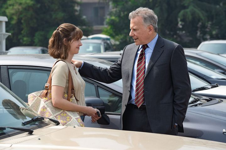"Alison Brie and Paul Reiser in ""Horse Girl."""