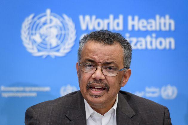 Le directeur général de l'Organisation mondiale de la santé (OMS), Tedros Adhanom...