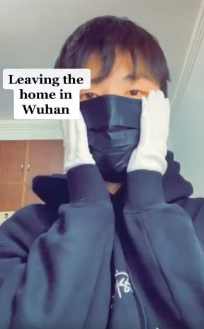 Daniel Ou Yang shared this photo on his Facebook account, updating his friends on life in Wuhan during the city's lockdown.