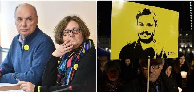 I genitori di Giulio Regeni - una manifestazione per chiedere verità e giustizia per il