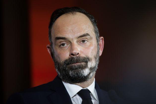 Édouard Philippe lors de son meeting de lancement de la campagne des municipales au Havre le 31