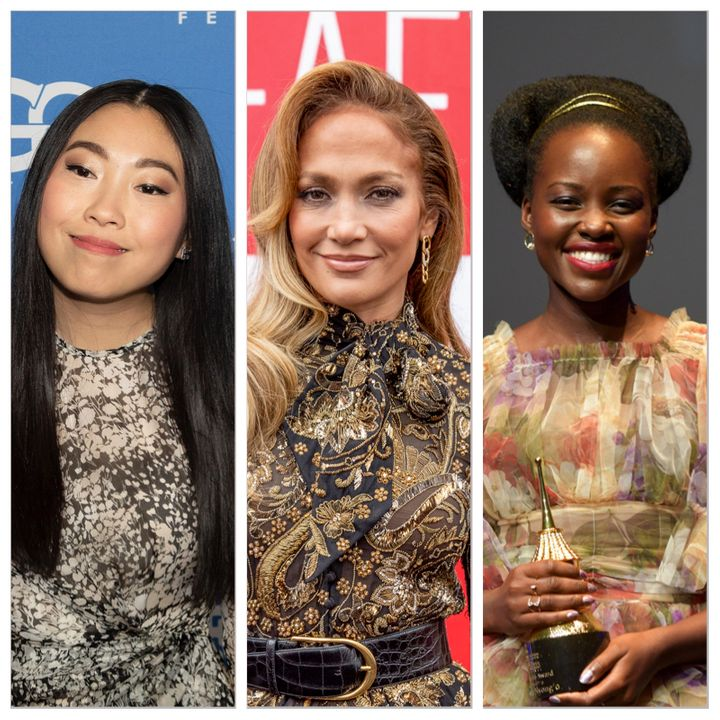 Awkwafina (left), Jennifer Lopez (center) and Lupita Nyong'o (right) were all overlooked at this year's Oscars.