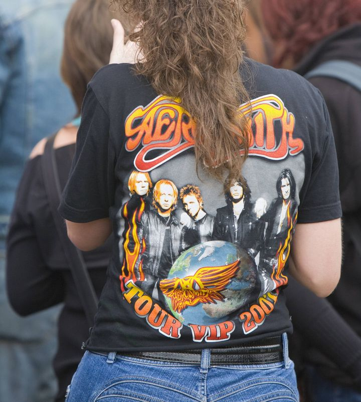 Sometimes, a vintage Aerosmith T-shirt can be just as romantic as a little black dress.